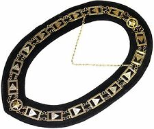 Masonic Regalia 33RD Degree SCOTTISH RITE Chain Collar BLACK Backing DMR-1000GBK