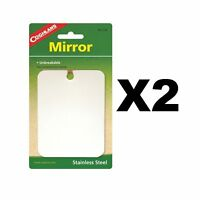Coghlan's Stainless Steel Mirror Unbreakable Compact Survival Camping (2-Pack)