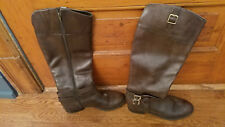 INC International Concepts Women's Fedee Tall Boots Size 9 Wide Calf Olive