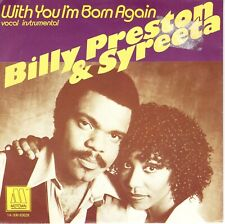 7inch BILLY PRESTON & SYREETA	with you i'm born again	HOLLAND 1979 EX+	  (S1140)