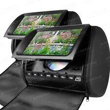 "XTRONS 2X 9"" Universal Digital Car Headrest CD DVD Player Back Seat Monitor Game"
