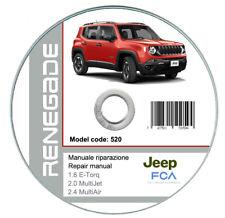 Jeep Renegade 2014-2018 manuale officina workshop manual on cd