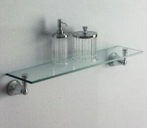 MOEN Banbury 22.75 in. W Glass Shelf in Brushed Nickel