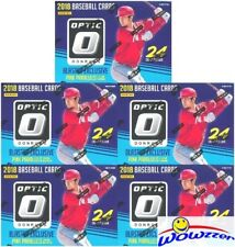 (5) 2018 Donruss Optic Baseball EXCLUSIVE Factory Sealed Blaster Box-PINK PRIZMS