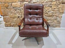 Swiveling armchair in leatherette / Fauteuil pivotant en Skaï 1970