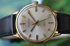 LOVELY GOLD-PLATED MECHANICAL GERMAN DUGENA TROPICA WATCH 17 JEWELS
