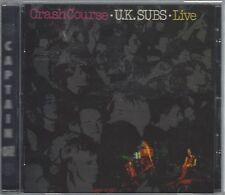 U.K. SUBS - CRASH COURSE - LIVE - (still sealed cd) - AHOY CD 140