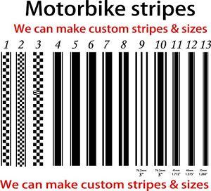 Tank Stripes - Tank - Motorcycle MotorBike - Stripes Custom Graphics