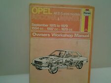 Haynes opel ascona & manta 1975 to 1979 repair manual