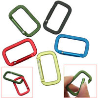 5 X D Ring Shape Carabiner Spring Snap Key Chain Clip Hook Lock Outdoor Buckle