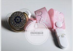 Luxus Schnuller Strass 0-12 Monate, Baby Geschenk 🎁Nazar🧿