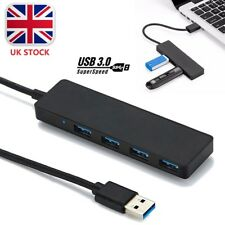 USB 3.0 4 Port Ultra Slim Data Hub 5gbps High-speed Adapter Cable for Mac PC