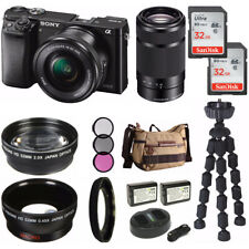 Sony Alpha a6000 Mirrorless Digital Camera 2 Lens Kit SELP1650 and SEL55210B