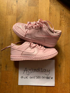 NIKE DUNK LOW PINK 2017 GS 921803 601 UK4.5 US5 100% AUTHENTIC