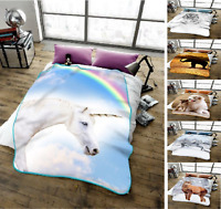 New Light 3D Animal Printed Throws Fleece Warm And Cosy Blanket Bed Sofa Throws