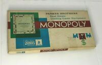 Vintage 1961 Monopoly Board Game Parker Brothers Classic Original Complete READ