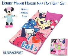 Disney MINNIE MOUSE NAP MAT+PLUSH GIFT SET Toddler Daycare Preschool SLUMBER BAG