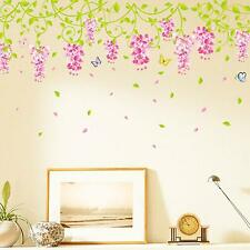 Chic Removable Wisteria Flower Room Wall Sticker Mural Decor Vinyl Art DIY Decal