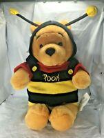 "NWT Disney Store Winnie the Pooh Bumble Bee Pooh BeanBag Plush 12"" Free Shipping"