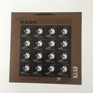 JOHNNY CASH US MUSIC ICONS SONGWRITER SCOTT #4789 16 MVF FOREVER STAMP SHEET