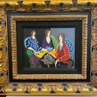 Itzchak Tarkay Magnolia Sisters Serigraph Hand Embellishment Canvas Framed COA