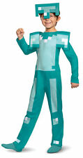 Licenced Classic Kids Minecraft Armour Fancy Dress Costume Boys Mojang Game