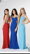 Tiffany Gianna Prom Black Cut Out Bodycon Backless Long Dress size 4 BNWT