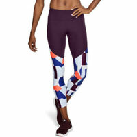Under Armour UA HeatGear Vanish Printed Ladies Crop Sports Running Leggings