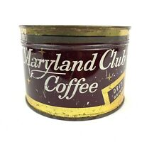 Vintage Duncan's Maryland Club Coffee Tin Can 1 lb