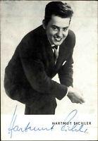 Autogrammkarte Autograph Musik Sänger Künstler signiert HARTMUT EICHLER Foto-AK