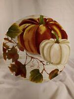 "Royal Norfolk Fall Pumpkin 10.5"" Dinner Plate Thanksgiving NEW"