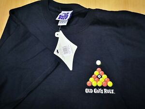 NEW OLD GUYS RULE T-SHIRT Old Guys Rule nice rack pool T-shirt black size med M