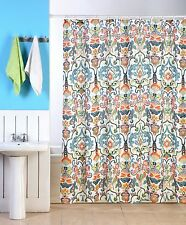 "EMERY FABRIC SHOWER CURTAIN, COLORFUL FLORAL GEOMETRIC DESIGN, 70""x70"""
