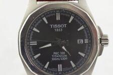 TISSOT PRC 100 QUARTZ TITAN HERREN UHR 38MM T008410 A MIT LEDER BAND RAR
