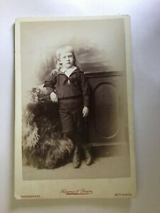Cabinet Card: Young Boy with long blonde hair