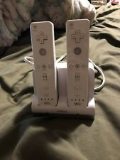 2x Nintendo Wii Mote with Nyko Charing Dock and Rechargeable Batteries Tested