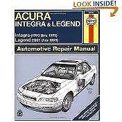 Haynes ACURA HONDA INTEGRA (90-93) GS LS RS Owners Repair Manual Handbook Book