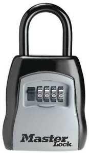 Master Lock 5400D Lock Box, Portable Security Safe 4 digit Padlock (5 Keys)