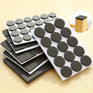Non Slip Furniture Pads Grippers Self Adhesive Rubber Feet Chair Table Leg Pad