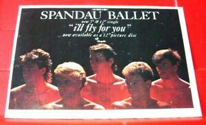 "Spandau Ballet I'll Fly For You Vintage ORIG 1984 Press/Magazine ADVERT 8.5""x 6"""