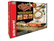Auto World Dukes Of Hazzard - General Lee / Police Car HO Slot Car Set SRS259