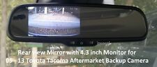 "Rear View Mirror Monitor 4.3"" for Toyota Tacoma 05-13 Aftermarket Backup Camera"