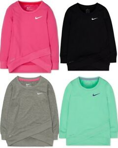 Brand New Nike Girls' Layered-Hem Sport Top T-Shirt