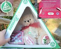 HERMAN Mohair Jointed PLUSH BEAR w/TEA SET Tags, Orig Box ENGLISH ROSE 740 Doll
