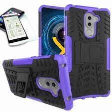 Carcasa híbrida 2 Piezas Púrpura Para Huawei Honor 6x + CRISTAL PROTECTOR