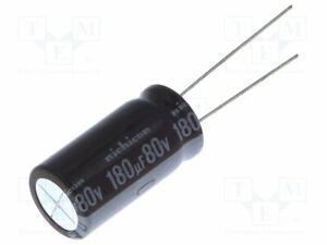 Kondensator: elektrolytisch 180uF geringe Impedanz THT  80VDC UPM1K181MHD Elektr