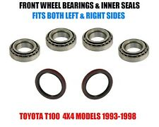 Toyota T100 4WD Front Wheel Bearings & Seals Set 1993-1998