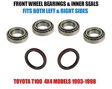 Toyota T100 4WD Front Wheel Bearings & Seals Set 1993-1998