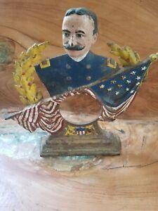 Rare Admiral George Dewey Cast Iron Clock Body / Frame