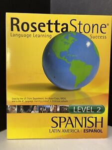 Rosetta Stone Spanish (Latin America) Level 2 Mac Windows CD 2005 EUC